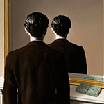 Rene Magritte-La Reproduction Interdite